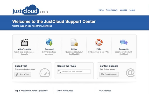 Justcloud-customer-support