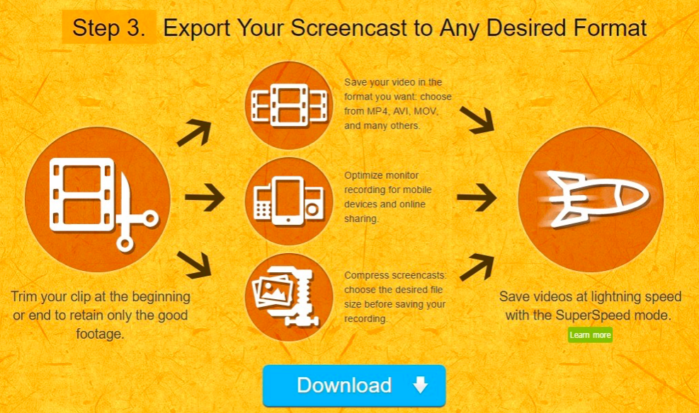 Export Screen cast