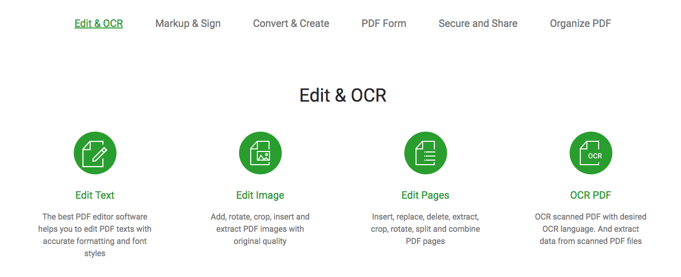 Edit & OCr iSkysoft