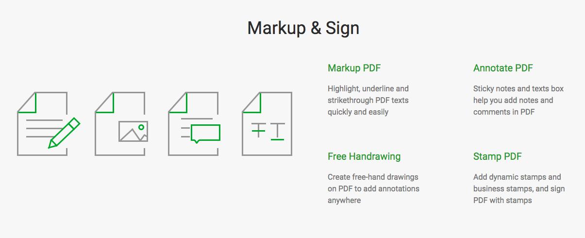 Markup & Sign