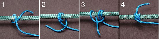 Rolling hitch tie knot
