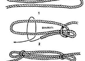 Sheepshank knot tie