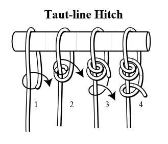 Taut-line Hitch knot