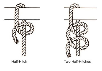 half hitch knot tie knot