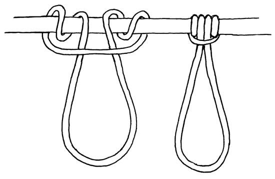 prusik-knot tie