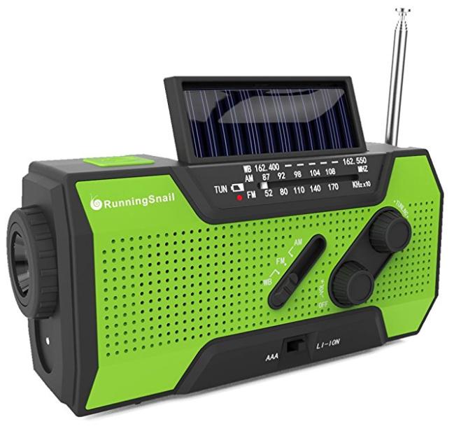RunningSnail Solar Crank NOAA Emergency Weather Radio
