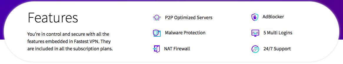 FastestVPN Features