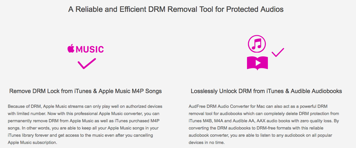 Audfree DRM Removal