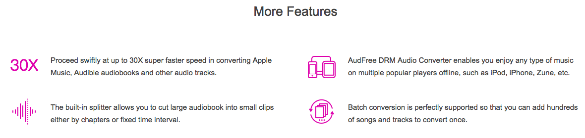 Audfree Features