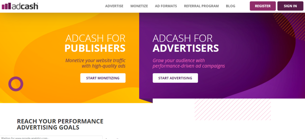 AdCash- Native ad networks