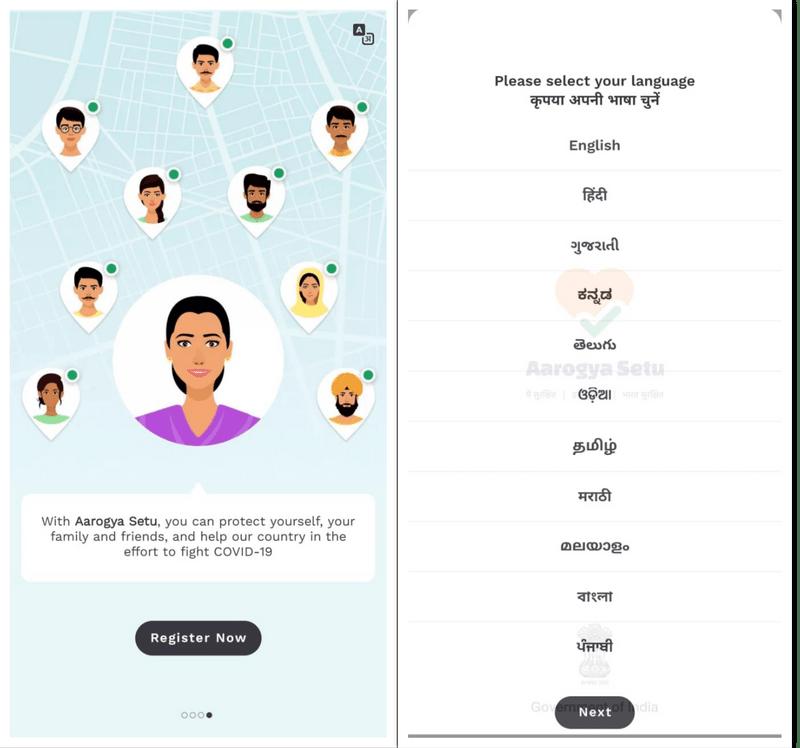 aarogya setu language