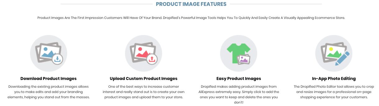 Dropified Product Image Features