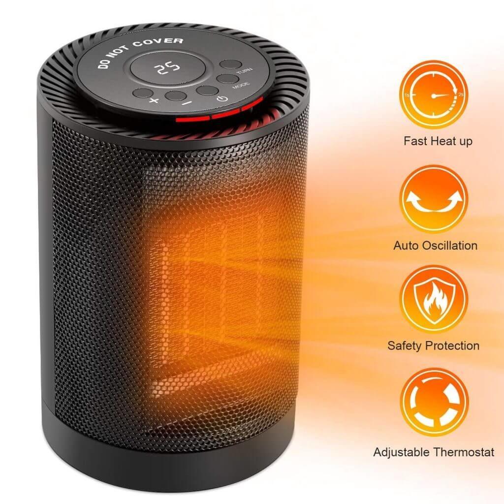 EcoHeat Portable Heater Temperature Settings