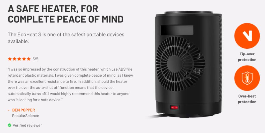 Ecoheat S Portable Heater