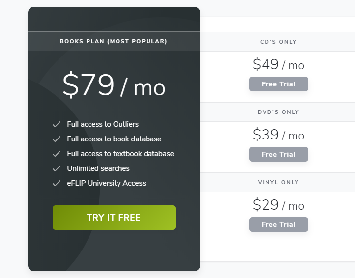 eFLIP Software Pricing Packages