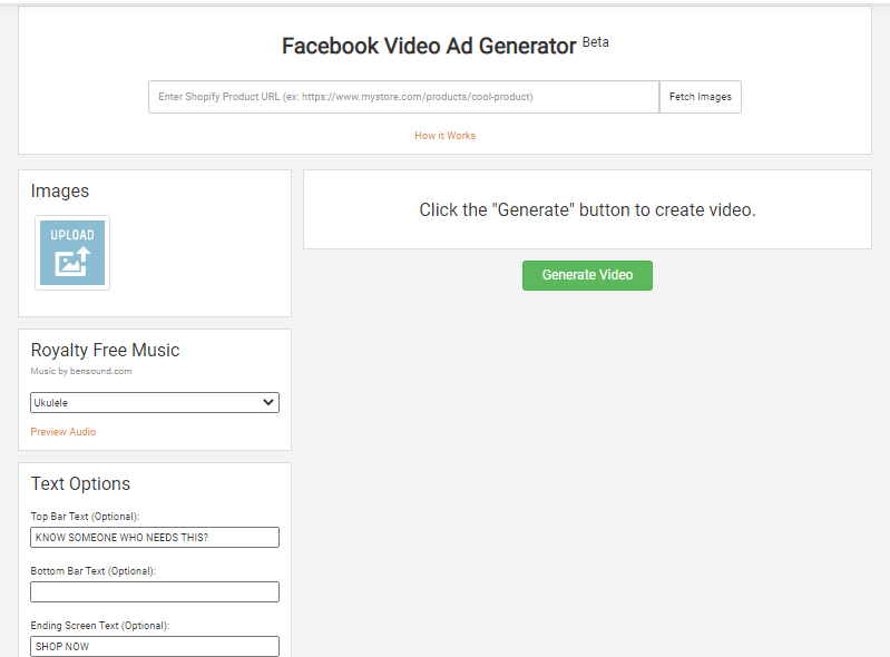 Niche Scraper Facebook Video Ad Generator