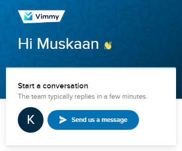 Vimmy Chat Support