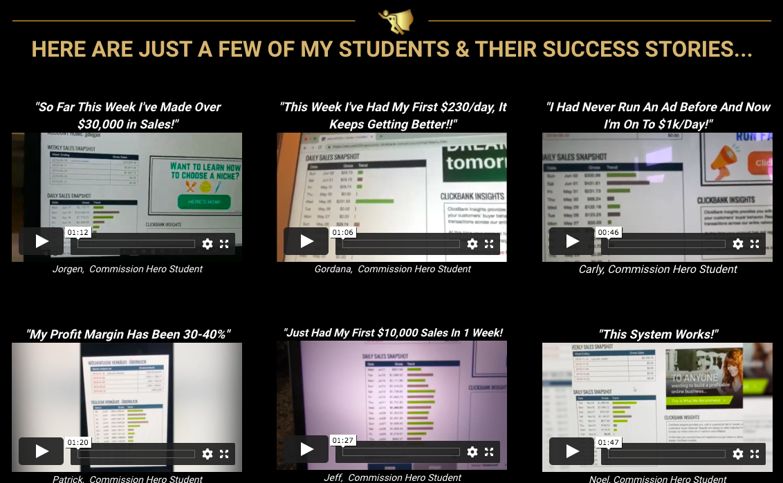 Commission Hero Students Success Stories