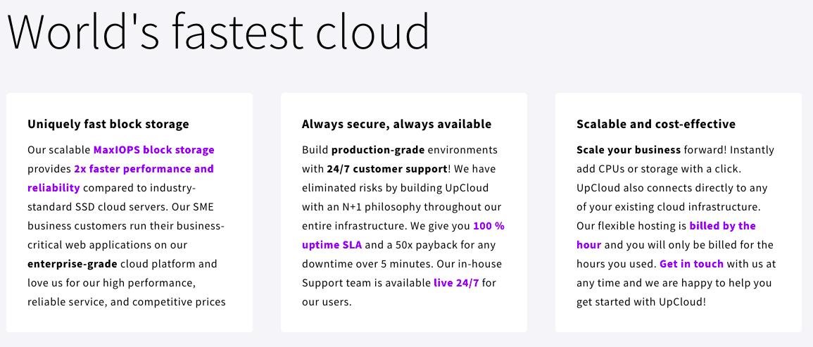 UpCloud Fastest Cloud Hosting