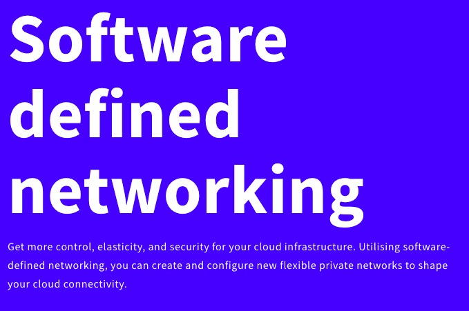 UpCloud Software Defined Networking