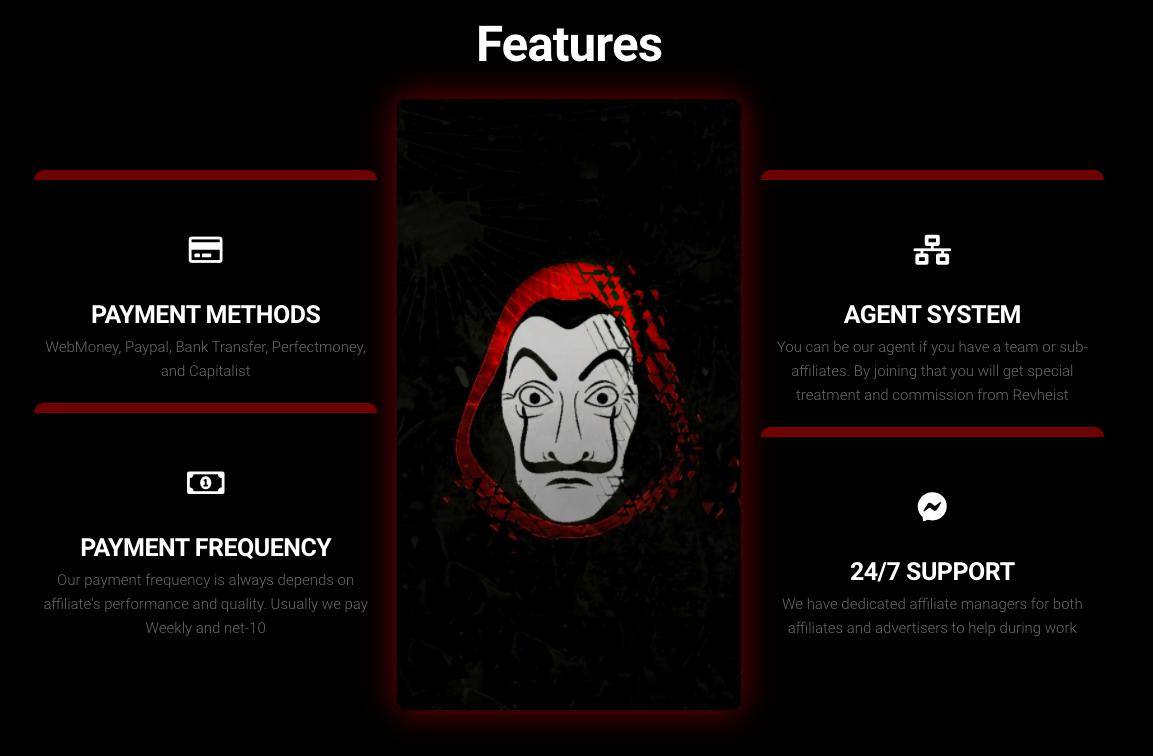 RevHeist Features
