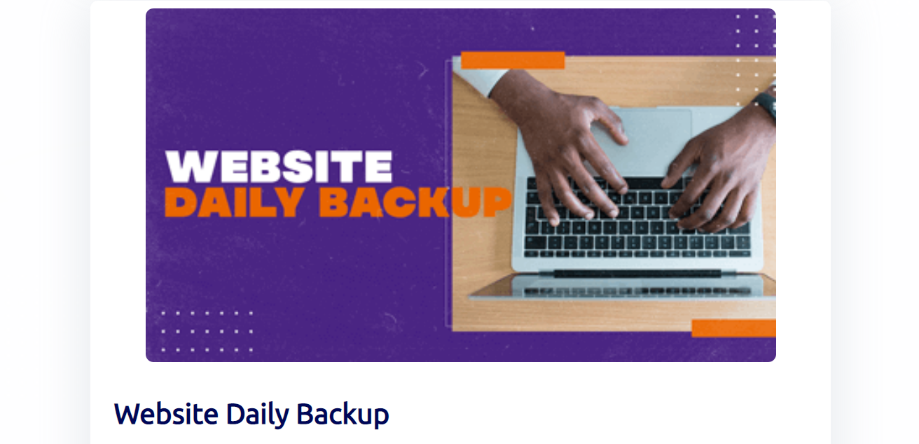 Builderall Website Daily Backup