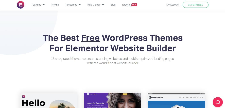Elementor Free WordPress themes