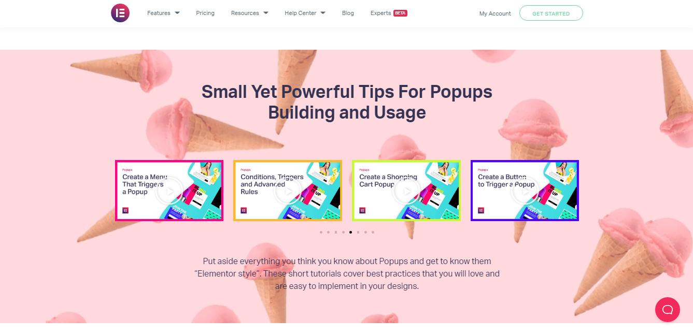 Elementor Pop-Up builder tips