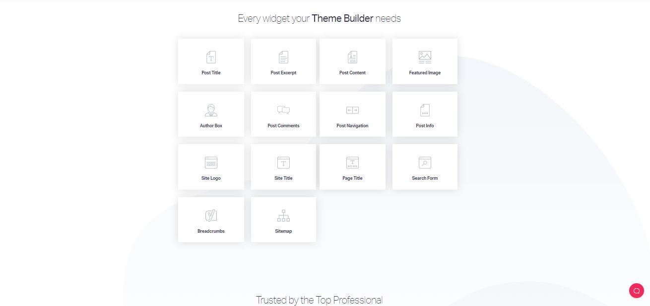 Elementor Widget for Theme builder