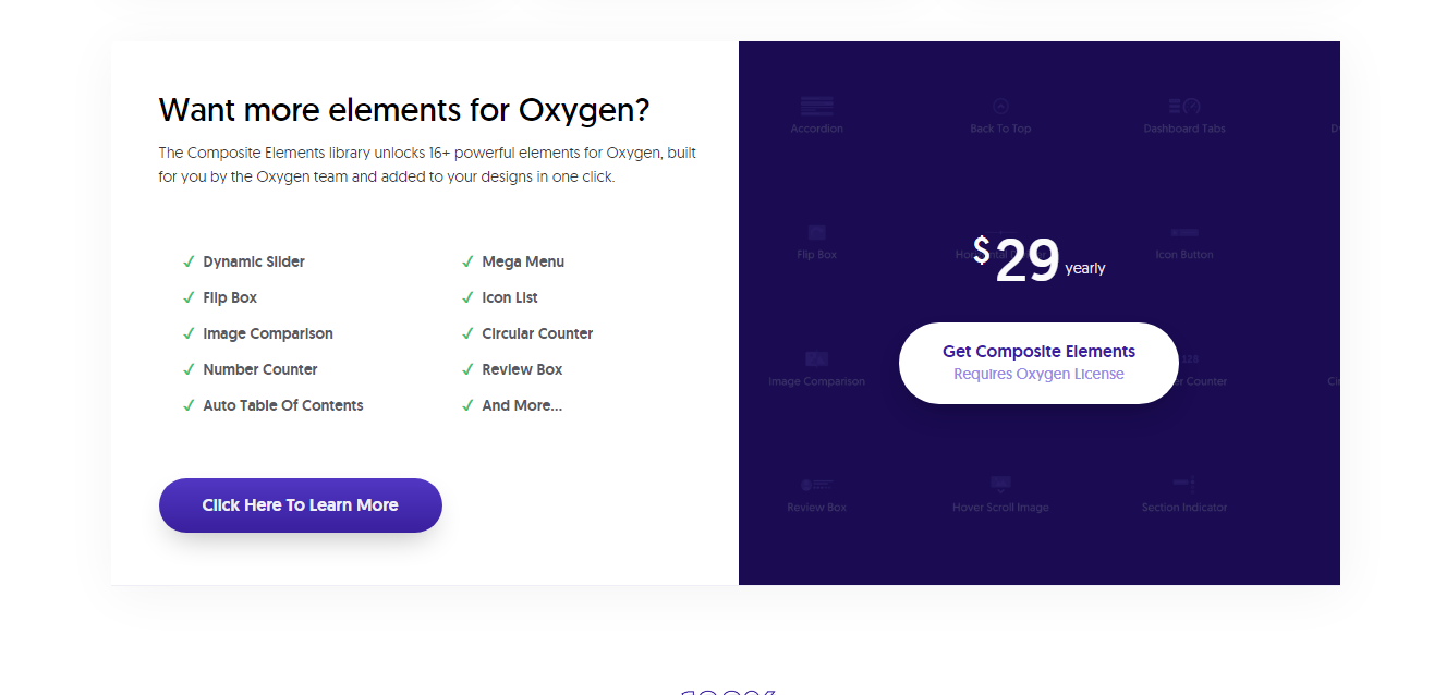 Oxygen Elements Pricing