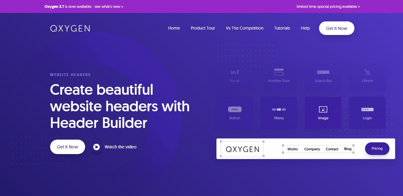 Oxygen Header Builder