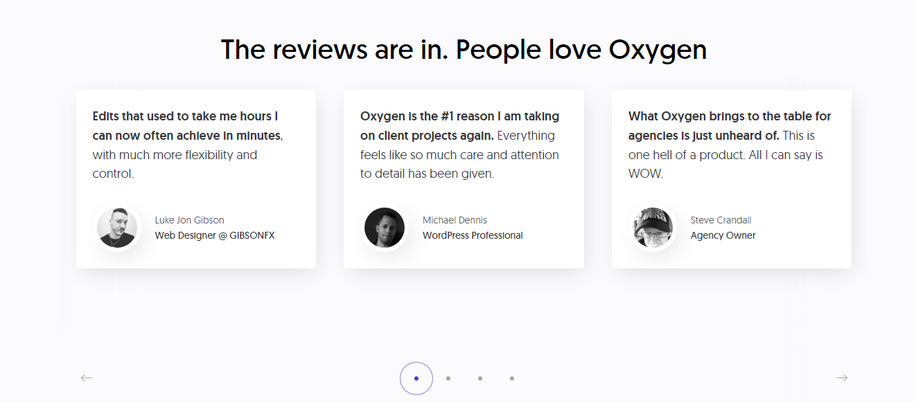 Oxygen Reviews