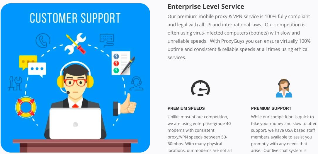 ProxyGuys Customer Support