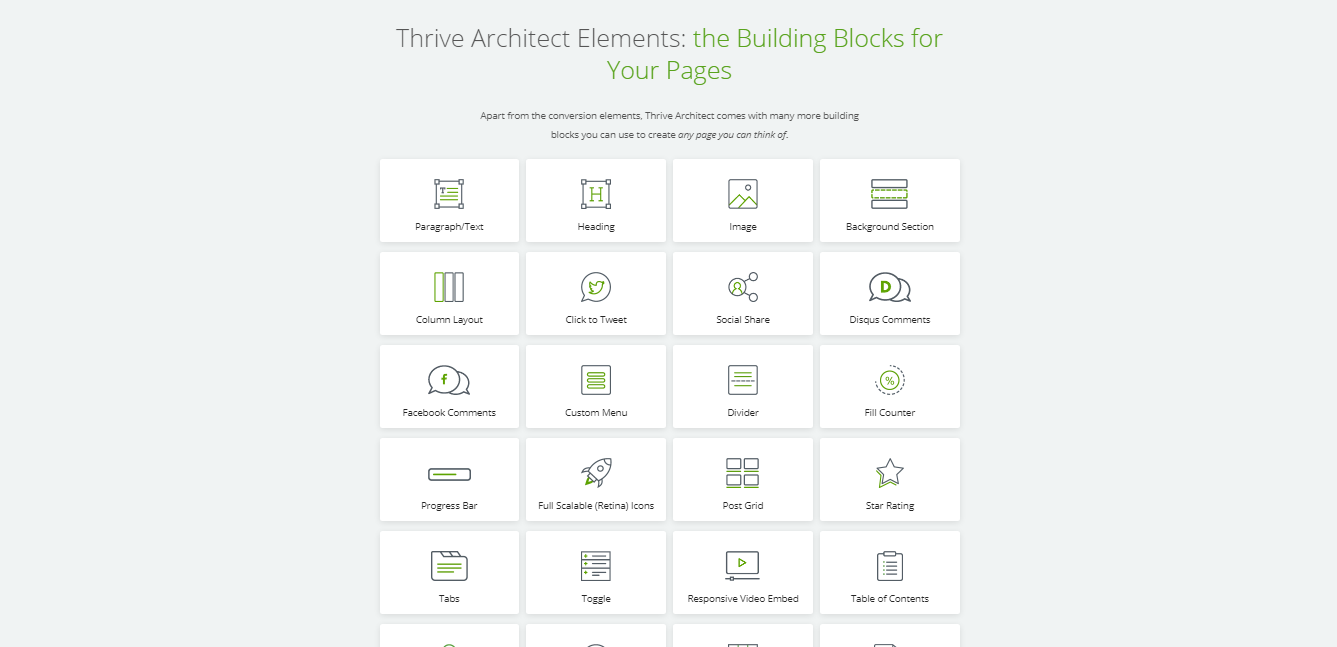 Thrive Architect Blocks for Pages