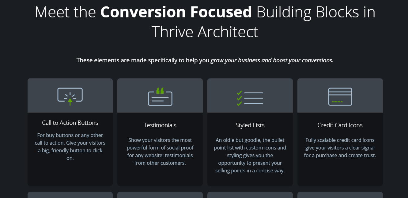 Thrive Architect Blocks & Elements