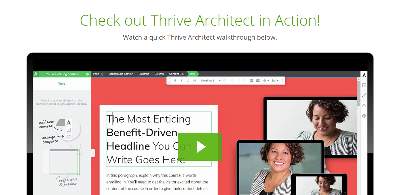 Thrive Architect Builder