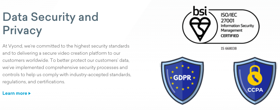 Vyond Data Security & Privacy