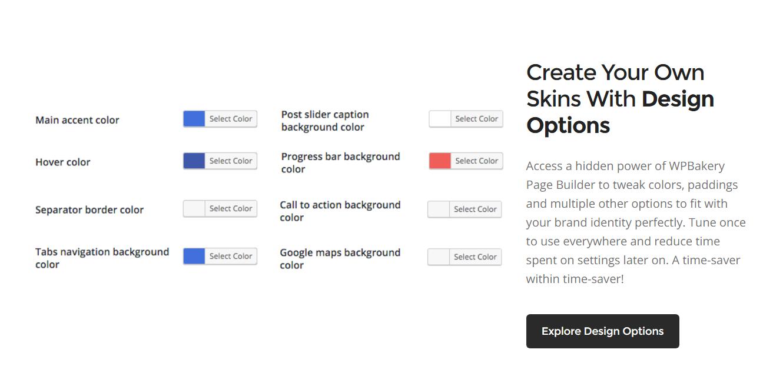WPBakery Design Options