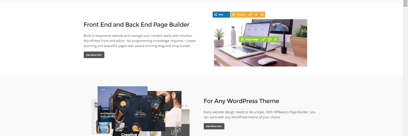 WPBakery Frontend & Backend editor