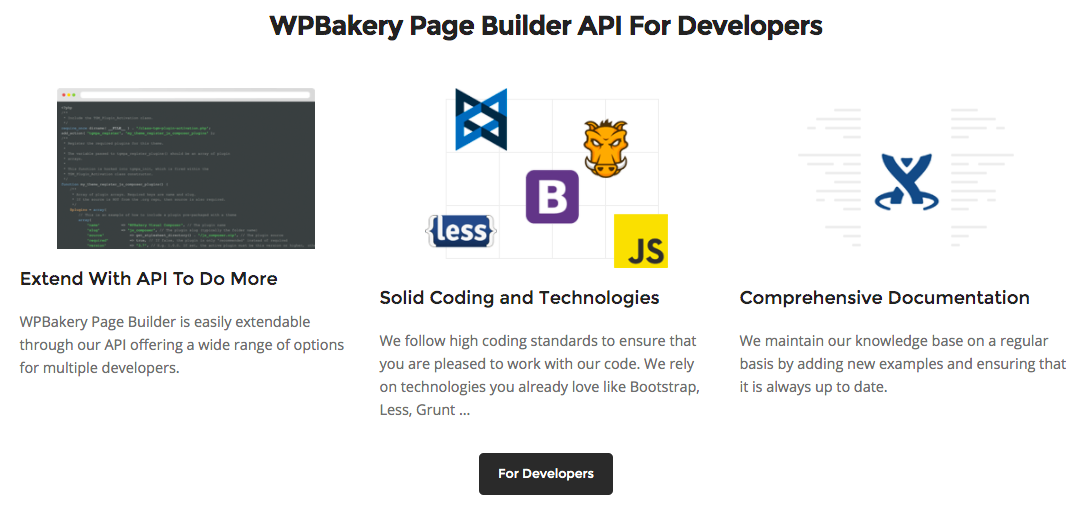 WPBakery Page Builder API