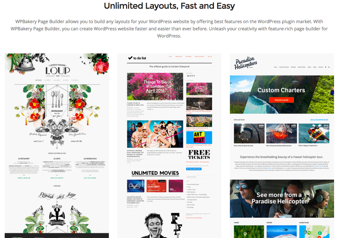 WPBakery Page Builder Layouts