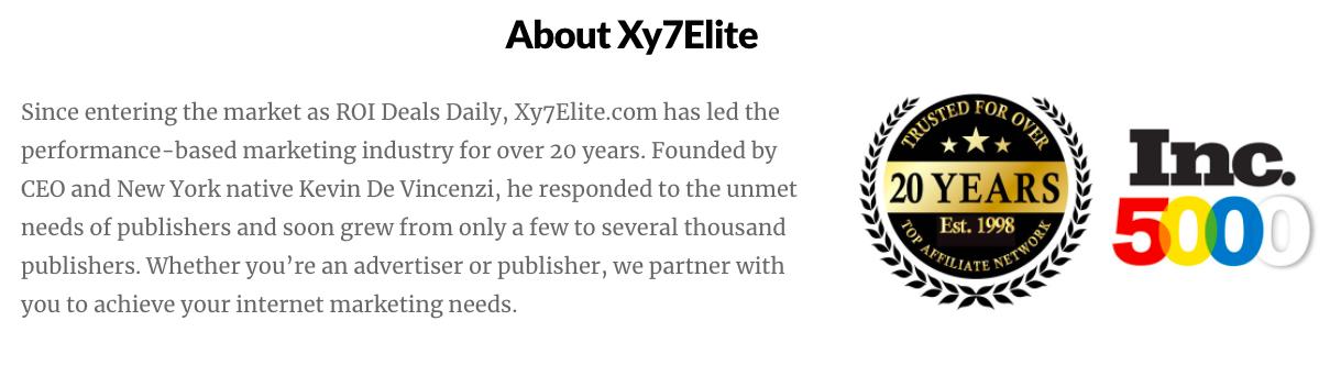 Xy7Elite 20 Years