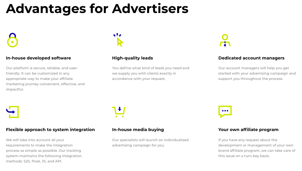 Advendor Advertisers Features