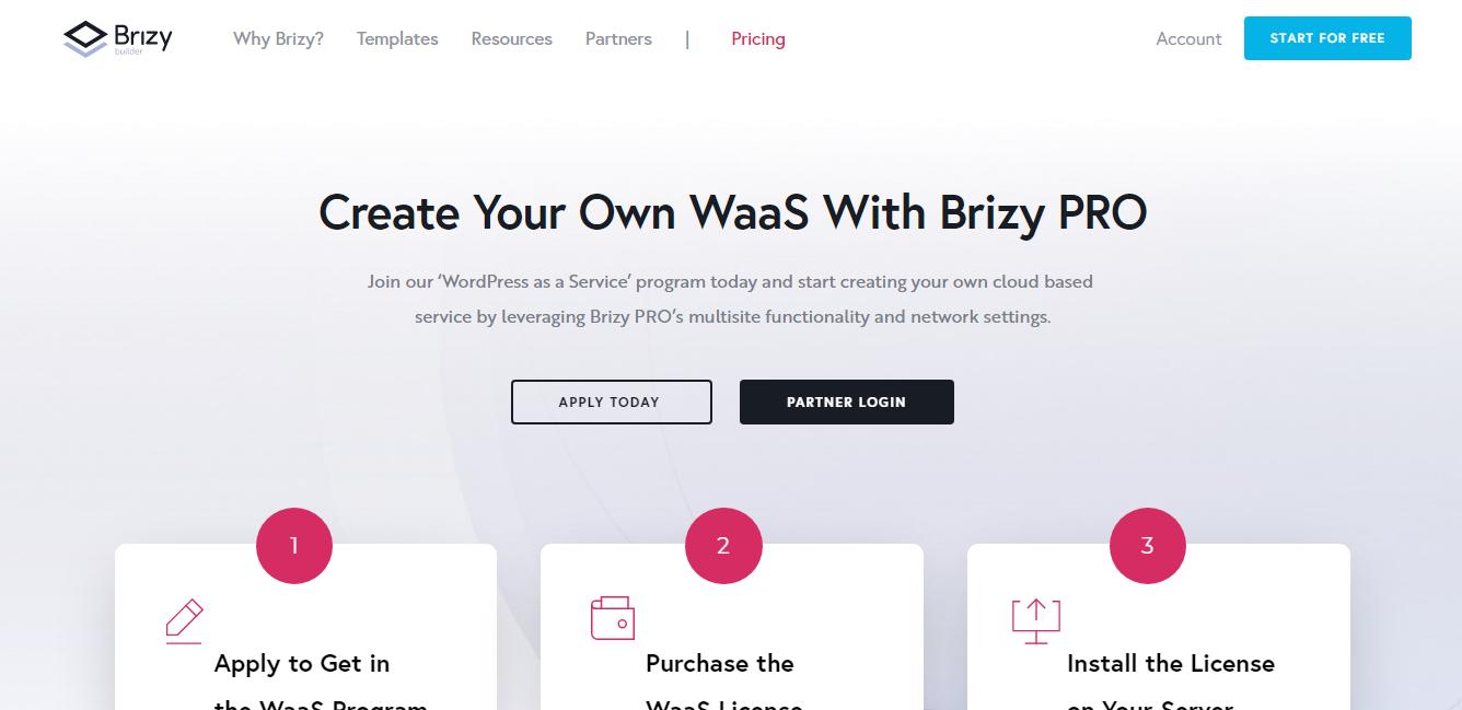 Brizy WaaS program