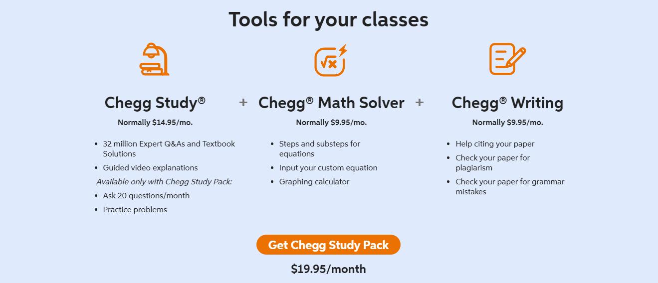Chegg Pricing Plans