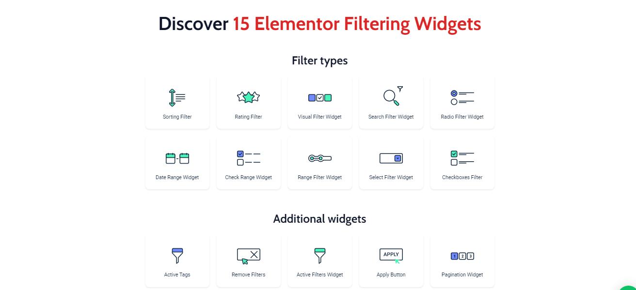 Crocoblock Filter widgets