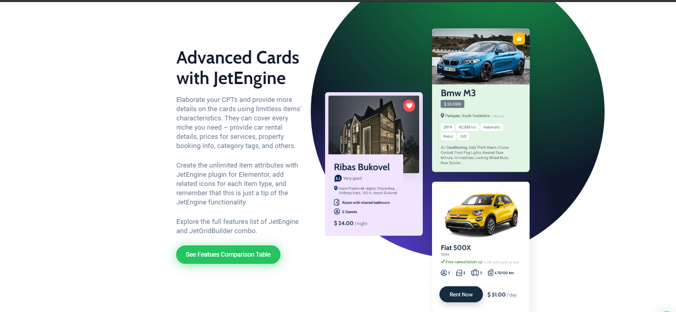 Crocoblock advanced cards