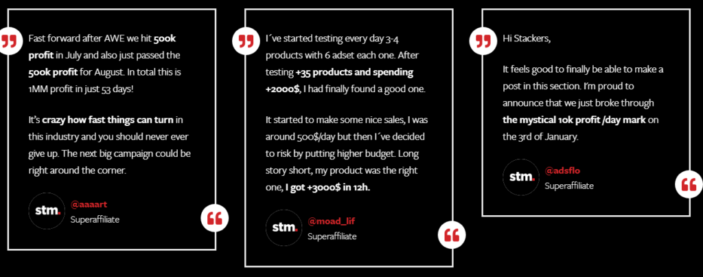 Customer Reviews on STM