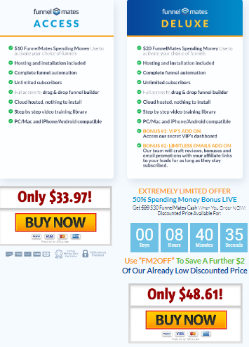 Funnel Mates Pricing Plans