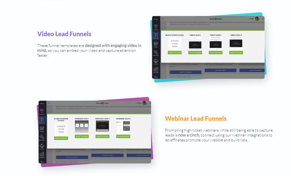 Funnel Mates - Webinar Lead Funnels, Video Lead Funnels